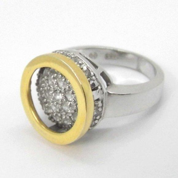 Modern Sterling Silver Circle Ring sz 6.5